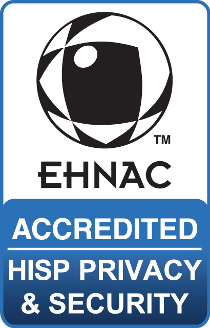 EHNAC HISP P&S certification badge
