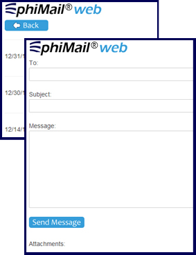 EMR Direct phiMail Screenshot
